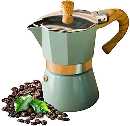 Ticarus Máquina de café de 300 ml, olla de aluminio, moca, espresso, percolador, olla, café, agua, hervidor, espresso, cocin