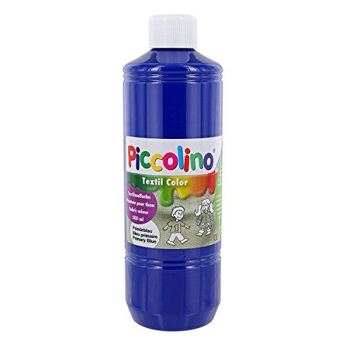 Textilfarbe Primär-Blau 500ml - Stoffmalfarbe PICCOLINO Textil Color
