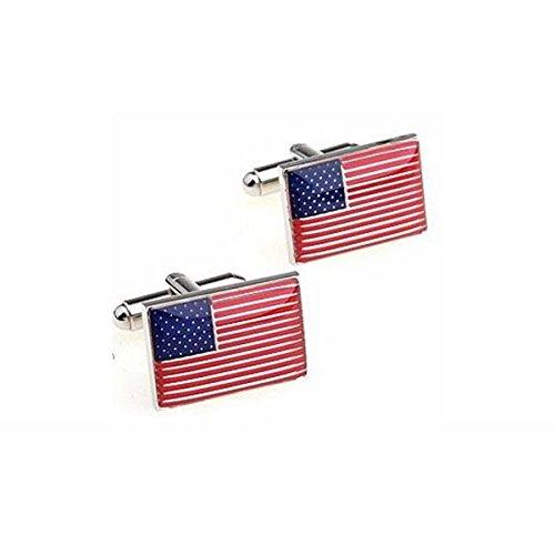 Bouton de manchette drapeau USA