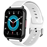 XXCLZ Bluetooth astuto dello Schermo di Tocco della vigilanza degli Uomini Completa 5.0 Personalizzato Dials Smartwatch Donne di Pressione sanguigna Ossigeno Heart Rate Monitor Guarda,White