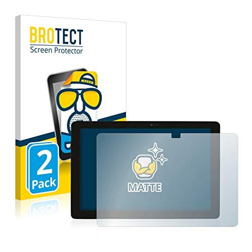 BROTECT 2X Entspiegelungs-Schutzfolie kompatibel mit Captiva Pad 10 2-in-1 Bildschirmschutz-Folie Matt, Anti-Reflex, Anti-Fingerprint