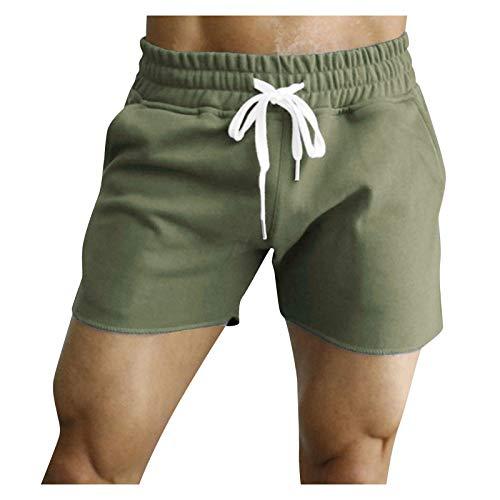 YANFANG Nuevo Pantalones Cortos Deportivos para Hombre De Alto Rendimiento,Mens Summer Casual Fitness Culturismo Bolsillos SóLidos,Verde Oscuro,3XL