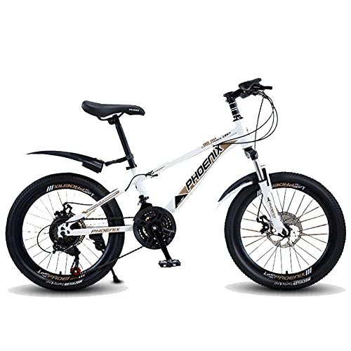 Axdwfd Infantiles Bicicletas Bicicleta para niños 18,20 Pulgadas, Ciclismo de niños y niñas, Adecuado para niños de 9 a 14 años, Blanco, Azul (Color : White, Size : 18in)