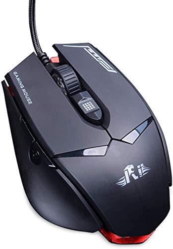 Rii Ratón Gaming con Cable M01 con Sensor óptico PMW 3360 de 12.000 PPP para PC, computadora portátil, Mac