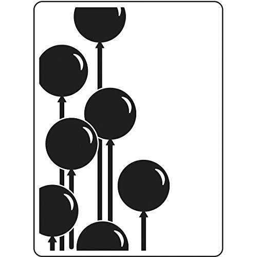 Darice Embossing Folder Prägefolder-Schablone, Ballon-Baloons-10,8 x 14,6 cm, Plastic, transparent, 10.8 x 14.6 x 0.11 cm