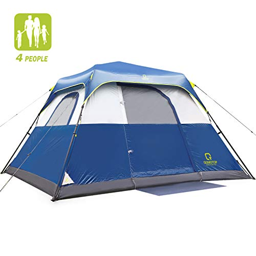 QOMOTOP Camping Tent for 10 Person, Instant Set-Up Within 1 Minute, 14'x10' Cabin Tent with Rain-Fly and Carry Bag, IP60 Waterproof Due to 600mm PU Coating Material