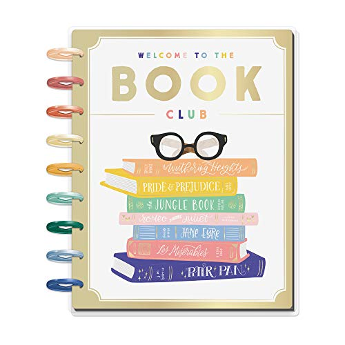 Price comparison product image The Happy Planner - Bookish Theme - July 2020 to December 2021 - Horizontal Layout - Weekly & Monthly Disc-Bound Pages - Scrapbook - Classic Size