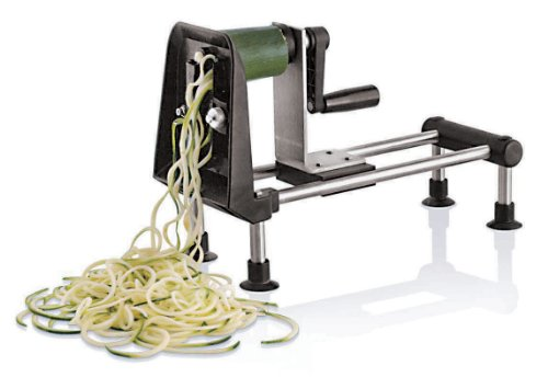 Bron Coucke Coupe-légumes et Spaghetti Rouet Gourmet en Acier INOX