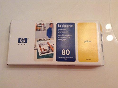 HP C4823A Cabeza de Impresora - Cabezal de Impresora Designjet 1000, Amarillo, -40-60 °C, 170g, 114 x 36 x 264 mm