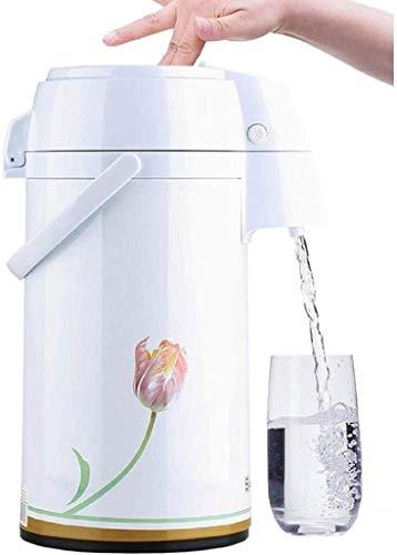 HGDD Jarra Térmica Cafe Jarra Termo Flask térmico: Jarra de café térmico, acción de Palanca, Termo Aislado de Acero Inoxidable, retención de frío 24 Horas, cafetera de Bomba