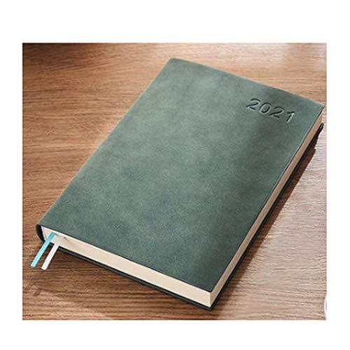 QIFFIY Diario A5 Diario de Gestión de Tiempos Negocios Simple Cuaderno Práctico Regalo de Niños y Mujeres Diario de trabajo Cuaderno de casa (Color: Verde oscuro, Tamaño: Sin caja de regalo)