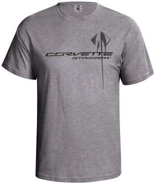 Corvette C7 Stingray Chest Logo T Shirt Gray Large product image