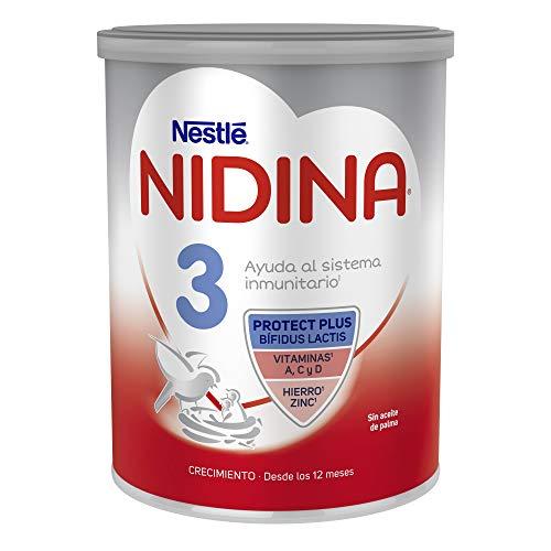 Nestlé Nidina 3 Leche de Crecimiento en Polvo Fórmula Infantil, A Partir de Los 12 Meses, 800g