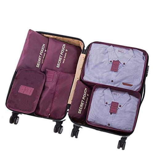 Ensemble de 7 Organisateurs de Voyage emballant des Cubes Sac de blanchisserie Bagage Sacs de Compression Sac dans Le Sac Organisateur...