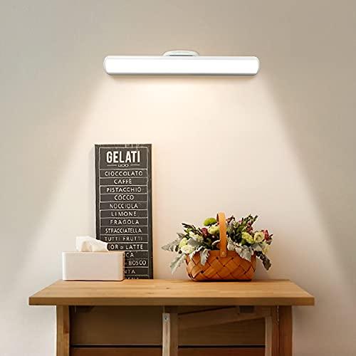 Hapfish - Lámpara de mesa inalámbrica de 4000 mAh, LED magnética con mando a distancia táctil e inalámbrico, regulable, luz nocturna con USB recargable para lámpara de lectura, estudio, trabajo