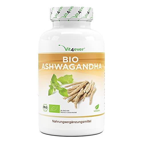 Original Organic Ashwagandha - 365 Cápsulas - Precio de lanzamiento - Altamente dosificado con 1950mg por porción diaria - Genuina baya india para dormir - Vegano