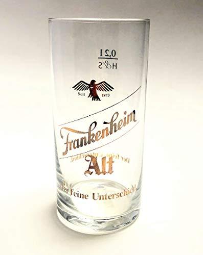 Frankenheim 0,2l Glas / Bierglas / Alt / Der feine Unterschied / Goldschrift / Bier / Altbier / Glas / Bar / Gastro / 6er Set