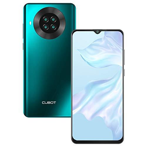 CUBOT Note 20 Teléfono Móvil Libre 4G, Smartphone 6,5 Pulgadas Pantalla, Android 10.0 3GB RAM +64GB ROM, 4200mAh, 20MP Cámara, Face ID, NFC, Dual SIM, Verde