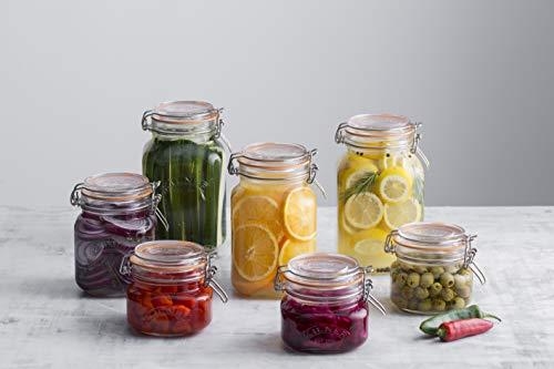 Kilner Square Clip Top Jar 2ltr | Kilner Preservation Jar, Kilner Storage Jar, Kilner Jam Jar with Cliptop Lid