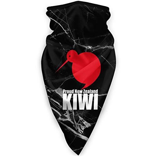 Neck Gaiters NZ Kiwi Print Face Mask Bandana Head Scarf for Men Women Black
