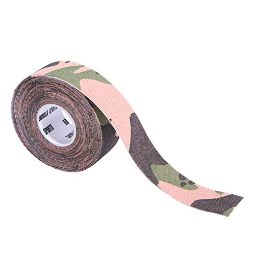 GORILLA SPORTS® Kinesiologie Tape 2,5 cm -10 cm Farbe Grün Camouflage, Größe 7,5 cm