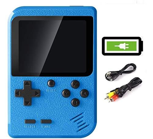 Bestllin Consola de Juegos portátil, Mini Reproductor de Juegos Retro con 400 Juegos clásicos de FC Pantalla a Color de 3 Pulgadas para TV y batería Recargable de Dos Jugadores para niños