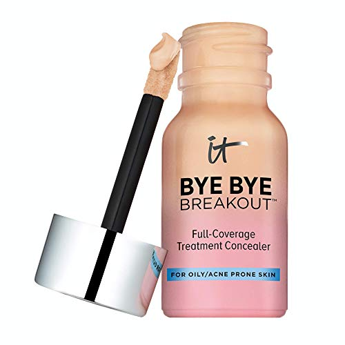 IT Cosmetics Bye Bye Breakout Concealer, Medium (W) - Drying Lotion + Full-Coverage Treatment Concealer - Covers Blemishes, Acne, Redness & Discoloration - With Hydrolyzed Collagen - 0.35 fl oz