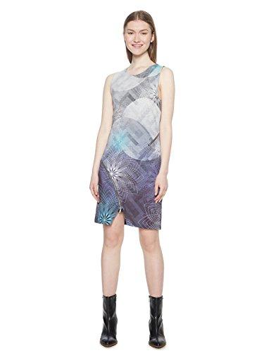Desigual Damen Vest_Ohio Kleid, Blau (Navy 5000), Large