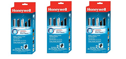 Honeywell HRF-B2 Filter B Household Odor & Gas Reducing Pre-filter (3 Pack)