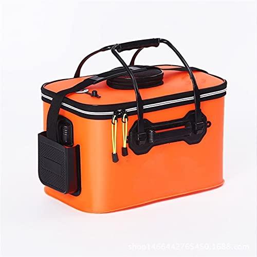 SASAU 40/45 / 50cm Bolsas de Pesca portátiles Desgaste Engranaje de Cubo de Pesca al Aire Libre Cubo de Pesca Plegable Camping Camping Senderismo Tackle (Color : Orange 50cm)