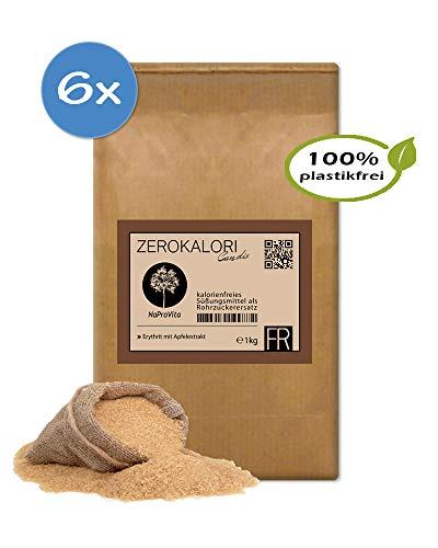 Premium Erythrit ( braun ) als Rohzucker -ersatz ZeroKalori Candis im 1x 1kg im Papierbeutel