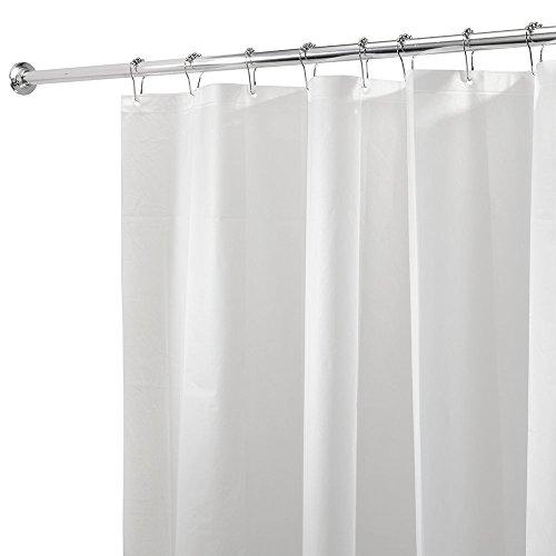 Vinylla Tenda da doccia in PEVA con motivo semplice, impermeabile, color ghiaccio