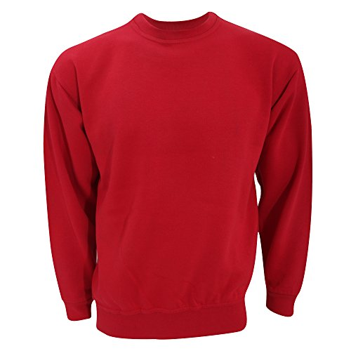 Ultimate Clothing Collection UCC - Sweatshirt uni - Adulte Unisexe (5XL) (Rouge)