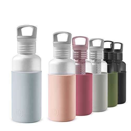 HYDY Tritan Botella de Agua Deporte 590ml, Sin BPA, con Infusor de Té (Cumulus)