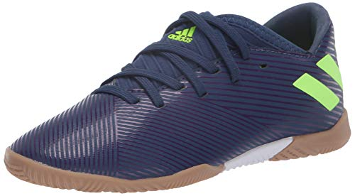 adidas Unisex Nemeziz Messi 19.3 IN Sneaker, Indigo/Green/Purple, 13K M US Little Kid