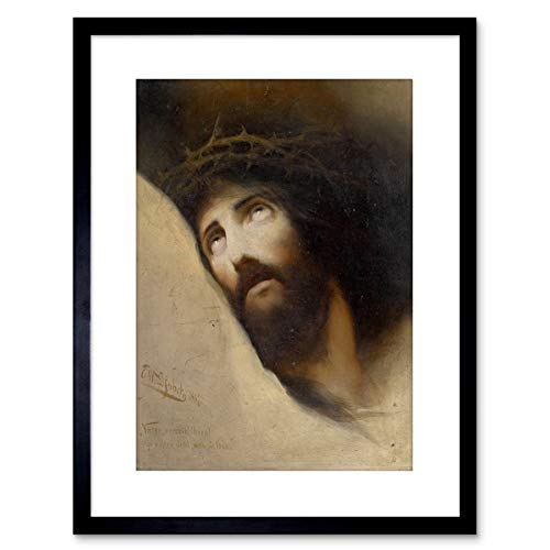 Painting Jesus Karl Wilhelm DIEFENBACH Vater VERZEIH Framed Art F97X12086