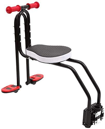 Asientos de bicicleta for niños, asiento de bebé Niños de seguridad for niños, con apoyabrazos y el pedal de desmontaje rápido del asiento Uso de bicicletas híbridas, bicicletas Fitness, bicicletas de