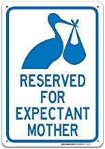 "Bestauseller Reserved for Expectant Mothers Parking Sign in Blue Large 10""X7"" Rust Free Aluminum Sign UV Printed with Professional Graphics Easy to Mount Indoors & Outdoors"