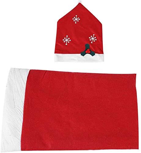 Silla de Navidad Cubierta Trasera Snow Claus Red Table Cloth / Cubierta de la Silla Adornos para el Festival del hogar de Navidad decoración del Partido( Funda para Silla)