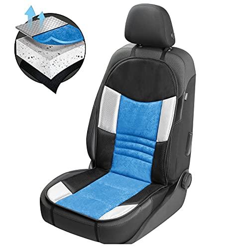 Walser Auto Sitzauflage, Autositzschoner Hunt, PKW Sitzschoner blau schwarz, atmungsaktiv 11666