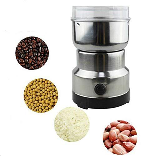 Getreidemühle mit elektrischem Kräutermühle, Lebensmittelqualität, Edelstahl, Gewürze, Getreide, Kaffeepulver