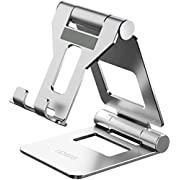 Tablet Stand, Licheers Adjustable iPad Stand, Cell Phone Stands, Foldable Tablet Holder Dock for Desk Compatible with iPad Pro, iPad Air Mini 2 3 4 Pro, iPhone, Nintendo Switch and 4-13 Inch Devices