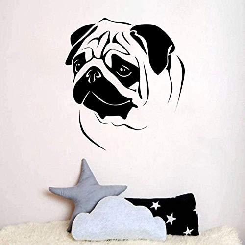 Muurstickers Art Decal Vinyl Murals Mode Knuffel Honden voor Kinderen Kamer 58,8 cm*65 cm