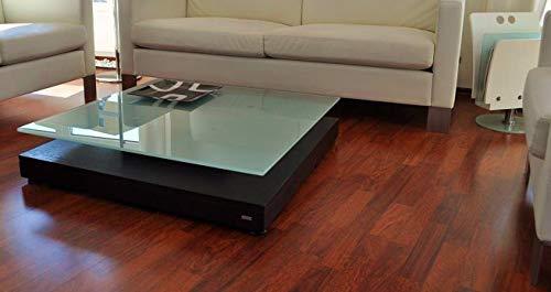 Design Couchtisch Tisch V-570 Walnuss/Wenge Milchglas Carl Svensson