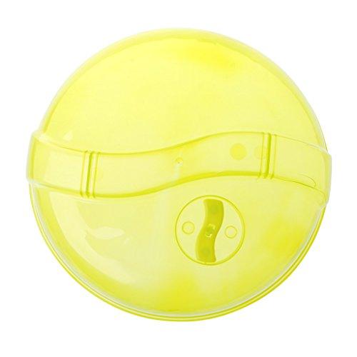Desconocido Salpicadura de Placa, Tapa de plástico para Placa de microondas para Nevera Tapa Transparente para Salpicaduras de ventilación de Vapor Plato de Comida de 10 Pulgadas - Amarillo