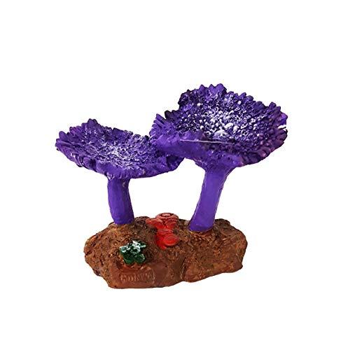 takestop Corail en résine coloré Couleurs 11.5 x 7.5 x 8.5 cm Jardin sous-Marin Ornement pour Aquarium Décoration Ameublement Pierre