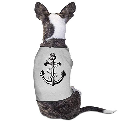 Florasun Hunde-Shirt für Katzen und kleine Hunde, Marineblau, Schwarz, Gr. L