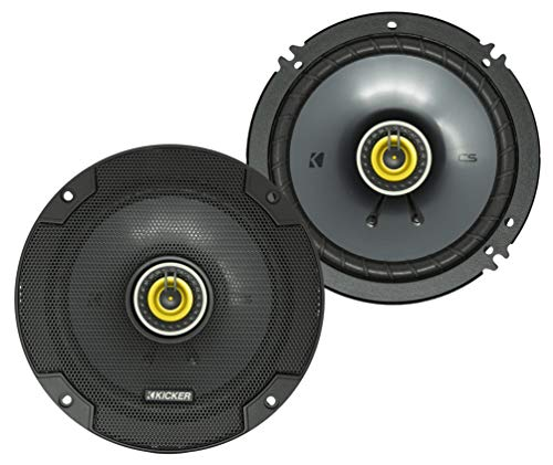 KICKER CSC65 CS Series 6.5 Inch 300 Watt 4 Ohm 2-Way Car Audio Coaxial Speakers System with Polypropylene Cone, PEI Tweeters & EVC Technology, Pair