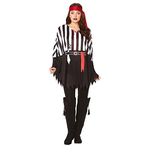 Karnival Kostuums 81387 Piraat Poncho, Mannen, Vrouwen, Multi