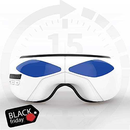 LiYuJ Electric Eye Massager with Heat, Air Compression, Vibration and Music, Wireless Foldable Rechargeable Eye and Temple Massager Best for Dry Eye, Tired Eye, Stress Relief, Dark Circles, Puffiness
